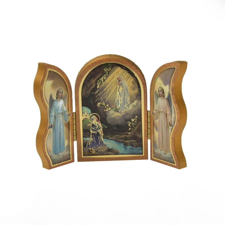 Tryptyk, ołtarzyk do modlitwy Matka Boża z Lourdes