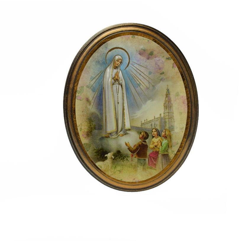 Obrazek owalny Matka Boża z Fatimy