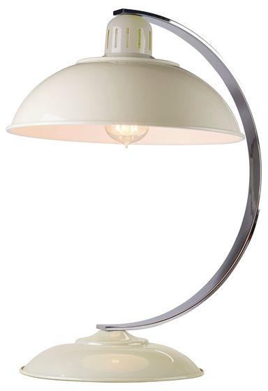Lampa biurkowa Franklin Elstead Lighting kremowa oprawa w nowoczesnym stylu
