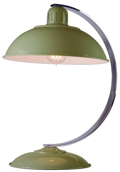 Lampa biurkowa Franklin Elstead Lighting zielona oprawa w nowoczesnym stylu