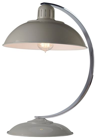 Lampa biurkowa Franklin Elstead Lighting szara oprawa w nowoczesnym stylu