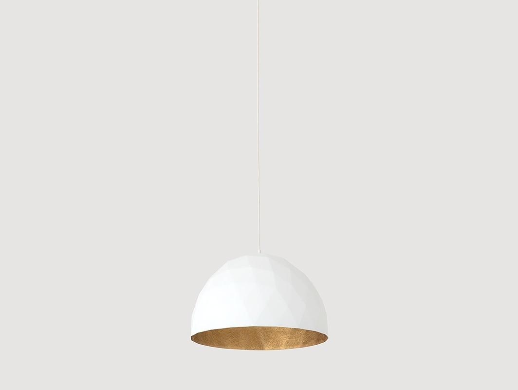 Lampa wisząca LEONARD M - złoto-biały - Customform