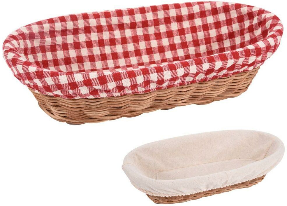 Koszyk rattan owalny na pieczywo chleb 31 cm