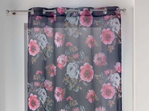 FIRANA IMPRIME TOP - Flower Life FIOLETOWY 140x240