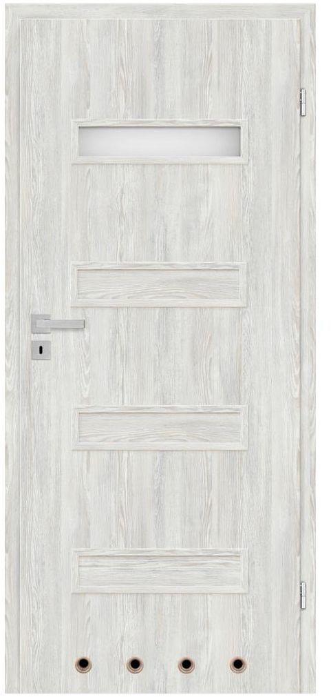 Skrzydło drzwiowe z tulejami wentylacyjnymi Cleo Astana 80 Prawe Nawadoor