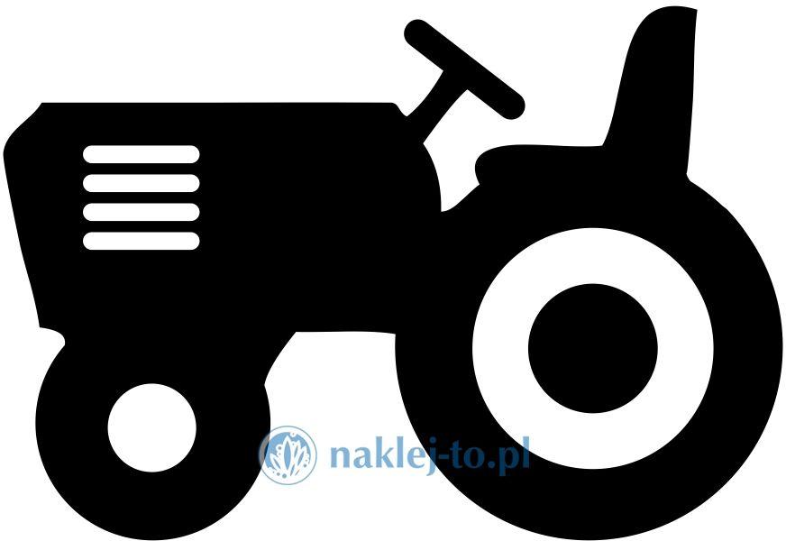 Traktorek naklejka mała naklejka