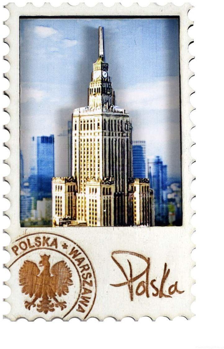 Magnes drewniany Warszawa Pałac Kultury