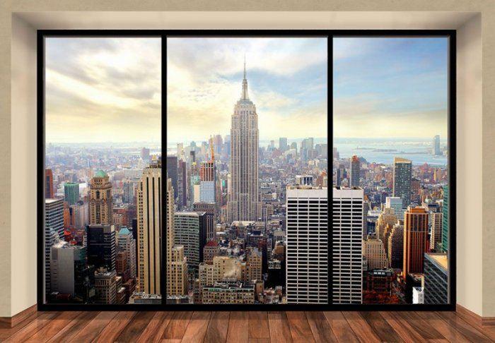 Fototapeta na ścianę - Manhattan, New York (window) - 366x254 cm