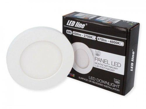 Panel LEDline EasyFix 6W 450lm 2700K - biała ciepła