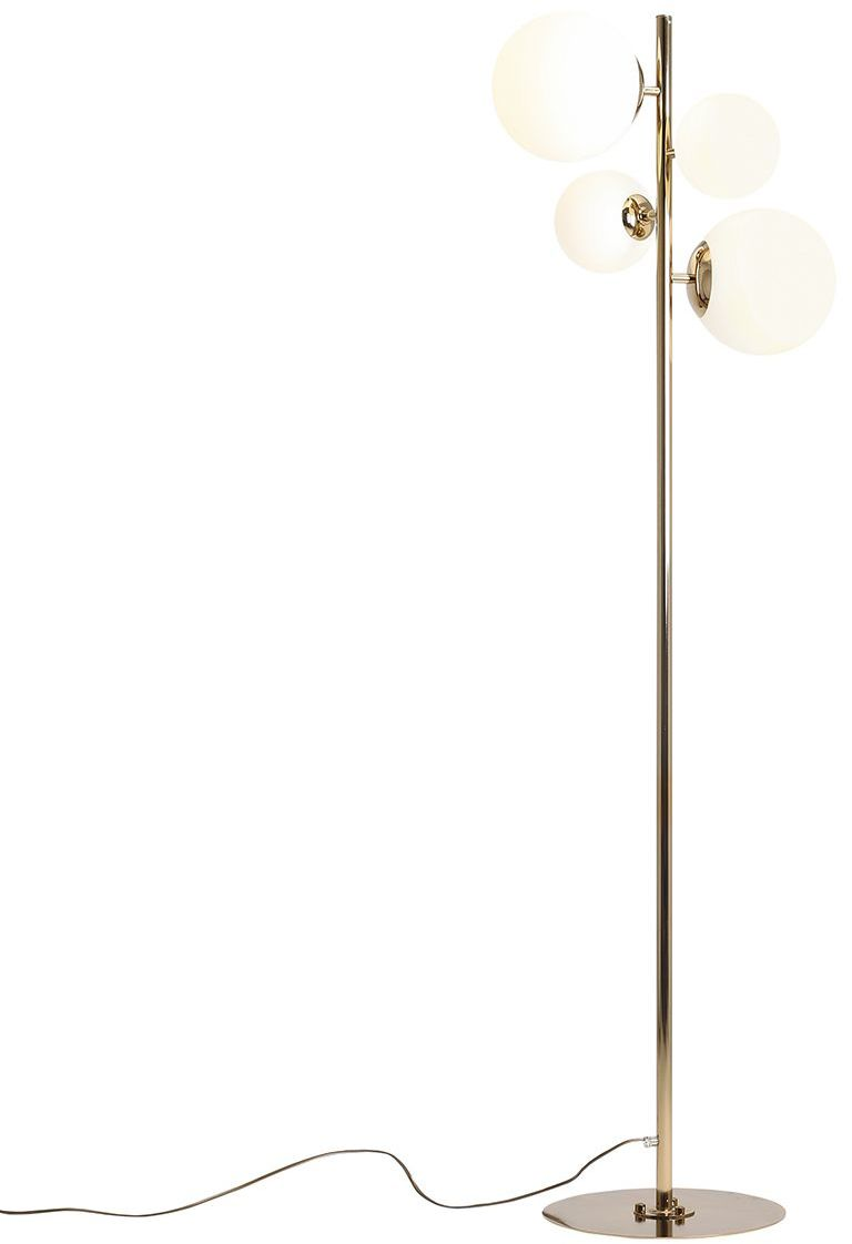 Lampa podłogowa BLOOM 1091A30 Aldex złota oprawa w stylu nowoczesnym