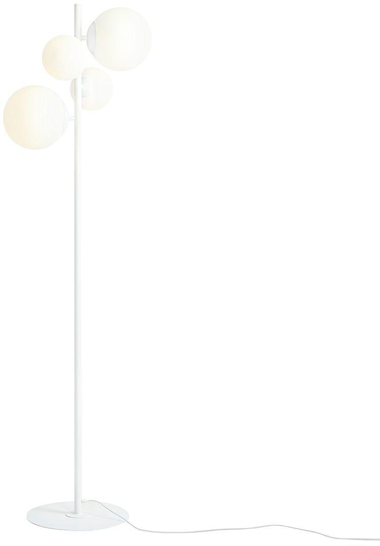 Lampa podłogowa BLOOM 1091A Aldex biała oprawa w stylu nowoczesnym
