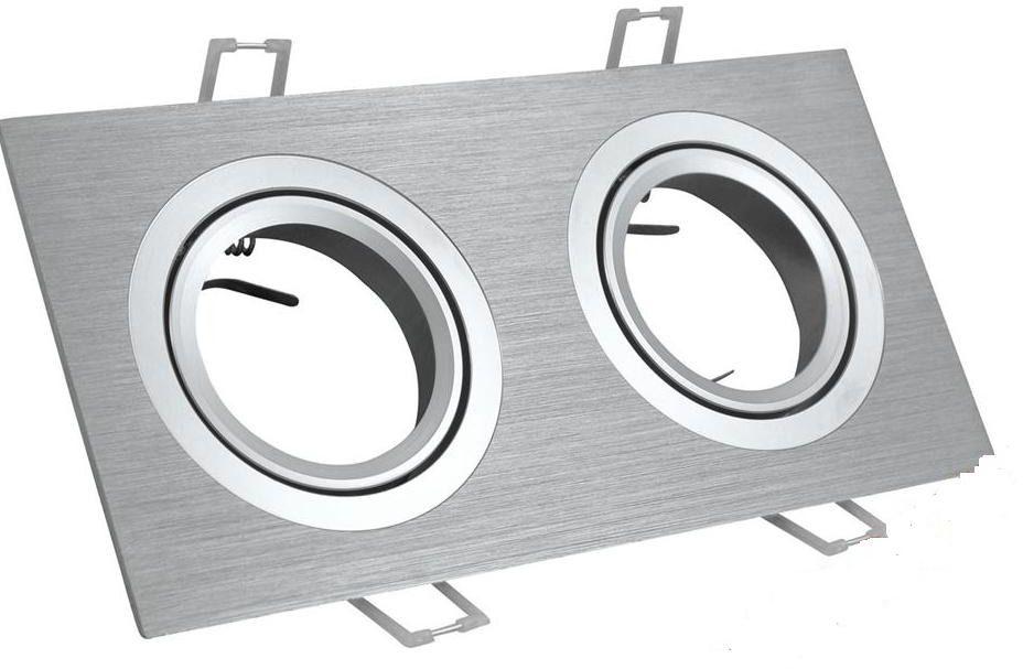 Oprawa halogenowa, schodowa podwójna kwadrat ruchoma aluminium