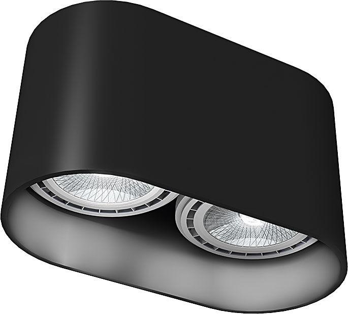 Oprawa natynkowa Oval 9240 Nowodvorski Lighting czarna oprawa w nowoczesnym stylu