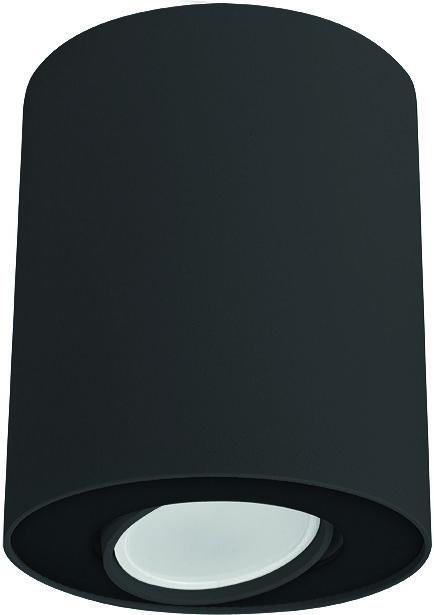 Plafon Set 8900 Nowodvorski Lighting czarna oprawa w kształcie tuby
