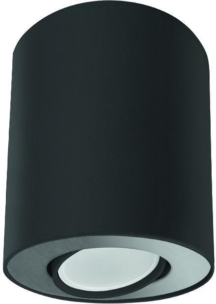 Plafon Set 8902 Nowodvorski Lighting czarno-srebrna oprawa w kształcie tuby
