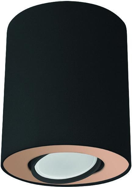 Plafon Set 8901 Nowodvorski Lighting czarno-złota oprawa w kształcie tuby