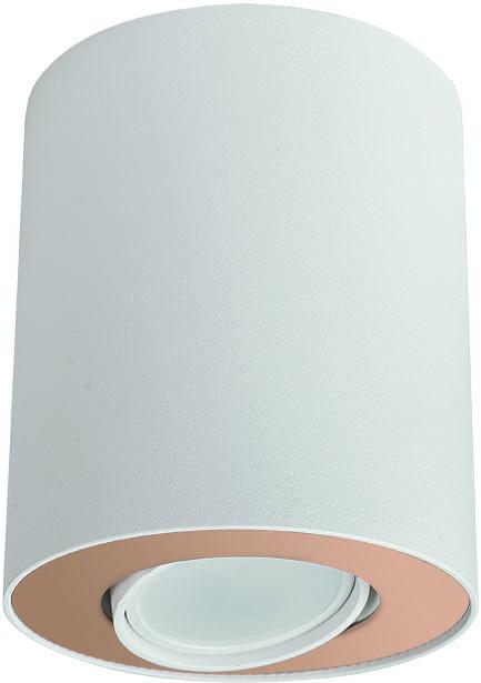 Plafon Set 8896 Nowodvorski Lighting biało-złota oprawa w kształcie tuby