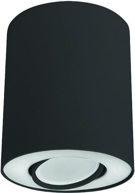 Plafon Set 8903 Nowodvorski Lighting czarno-biała oprawa w kształcie tuby