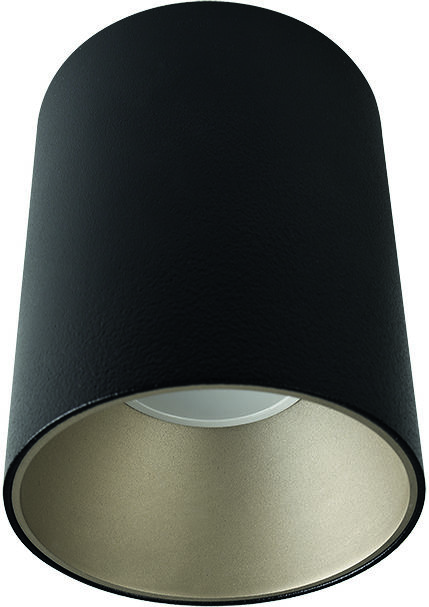 Plafon Eye Tone 8932 Nowodvorski Lighting czarna oprawa ze srebrnym pierścieniem