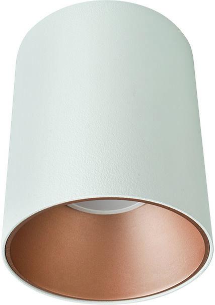 Plafon Eye Tone 8926 Nowodvorski Lighting biała oprawa ze złotym pierścieniem