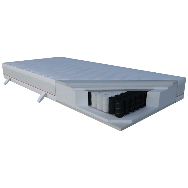 Materac CORA JANPOL kieszeniowy : Rozmiar - 80x190, Pokrowce Janpol - Silver Protect