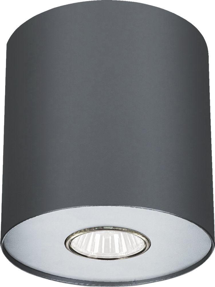 Plafon Point M 6007 Nowodvorski Lighting grafitowa lampa z wymiennym pierścieniem