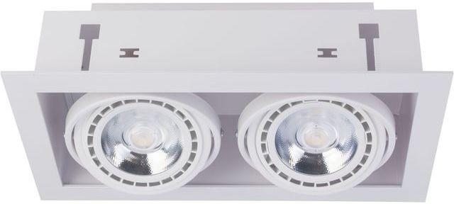 Oprawa wpuszczana Downlight ES111 9574 Nowodvorski Lighting podwójna oprawa w kolorze białym