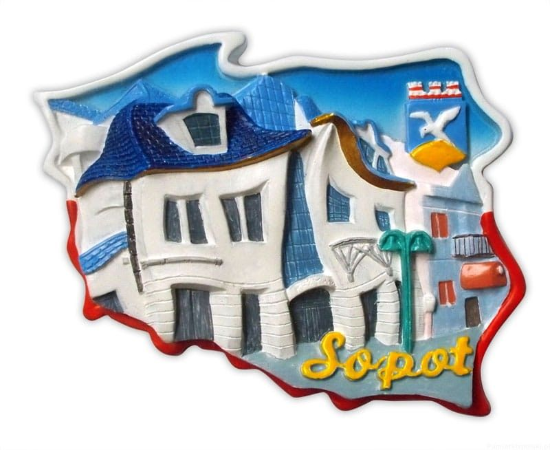 Magnes kontur Sopot krzywy dom