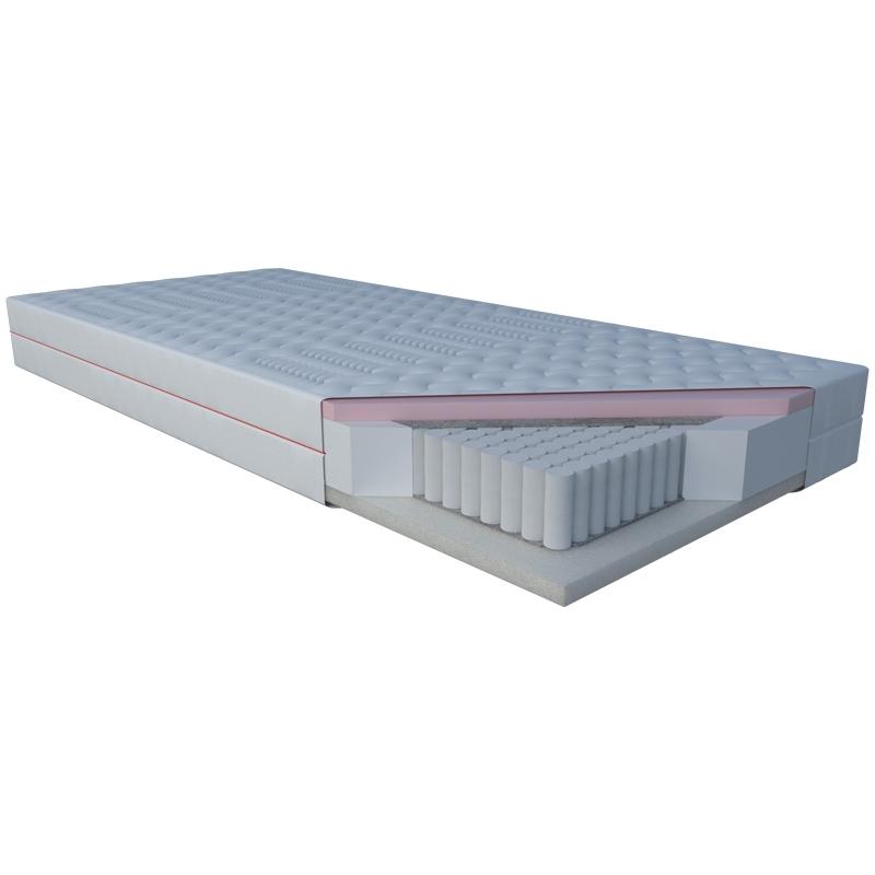 Materac NIOBE JANPOL kieszeniowy : Rozmiar - 90x190, Pokrowce Janpol - Silver Protect