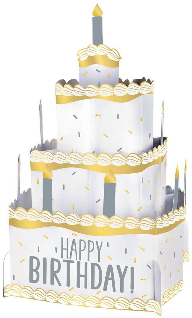 Dekoracja stołu Tort -Happy Birthday - 25,4 cm - 1 szt.