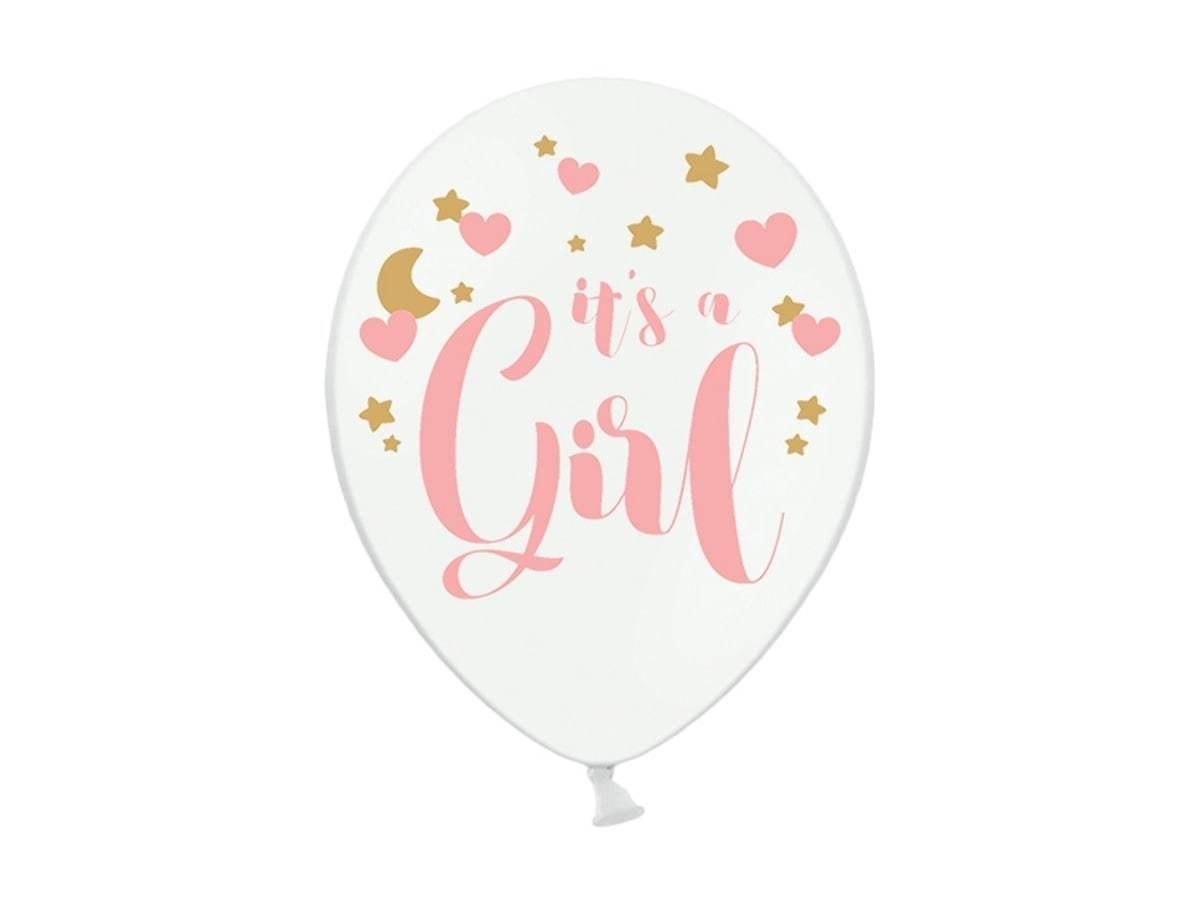 Balony pastelowe na Baby Shower Dziewczynki - 30 cm - 50 szt.