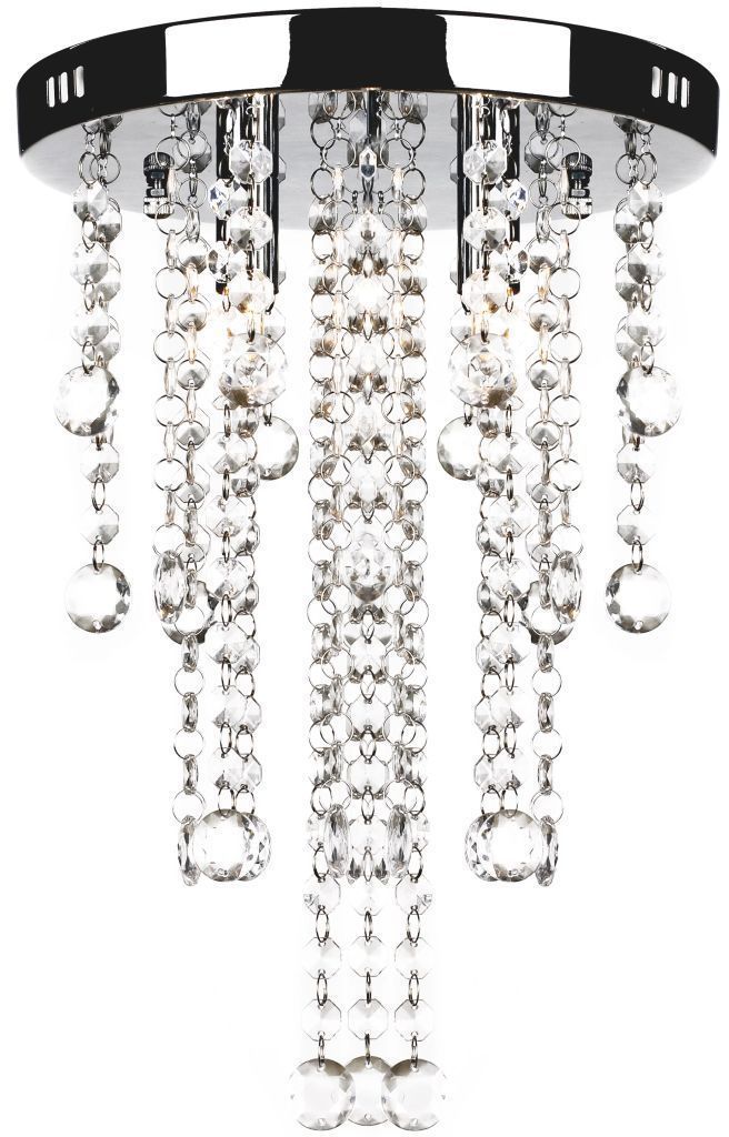 Okrągła lampa sufitowa z kryształkami - E992-Rosela