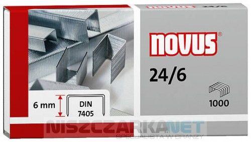 Zszywki standardowe do zszywaczy biurowych Novus 24/6 DINx1000