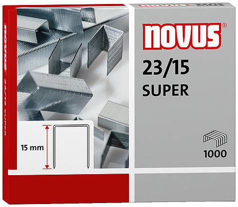 Zszywki Novus 23/15 SUPER x1000 do zszywaczy heavy duty