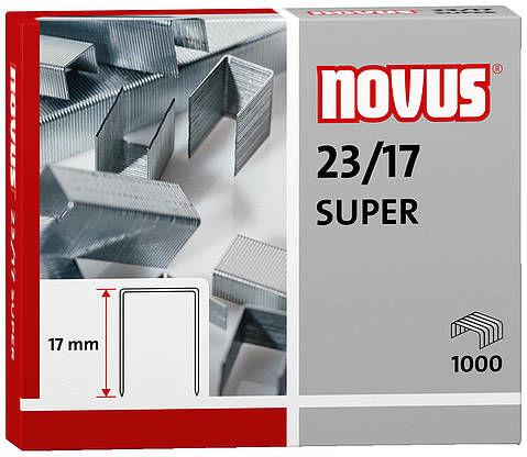 Zszywki Novus 23/17 SUPER x1000 do zszywaczy heavy-duty