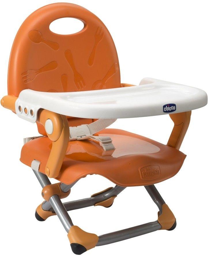 Chicco Pocket Snack krzesełko turystyczne kompaktowe pomarańczowe