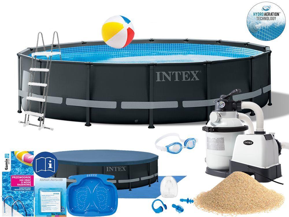 Basen Intex 488x122 Ogrodowy Stelażowy 26326 15w1