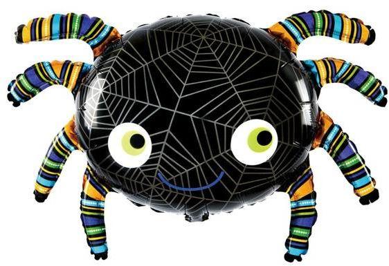 Balon na Halloween pająk foliowy 1 sztuka 460447