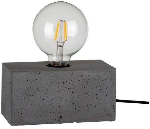 Lampa stołowa STRONG 1-punktowa lampa o szarej betonowej podstawie 7370936