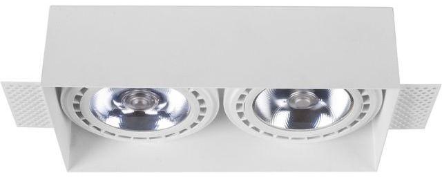 Oprawa wpuszczana Mod Plus 9407 Nowodvorski Lighting podwójna lampa w kolorze białym