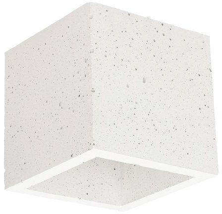 Kinkiet BLOCK 1-punktowa lampa o białej betonowej podstawie 2255137