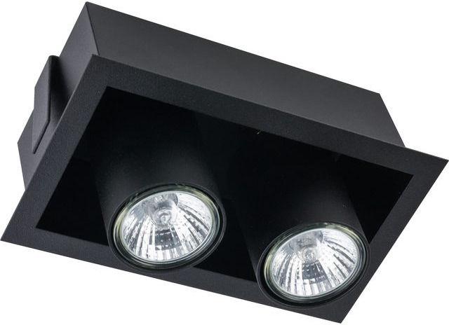 Oprawa wpuszczana Eye Mod 8940 Nowodvorski Lighting podwójny ruchomy reflektor w kolorze czarnym