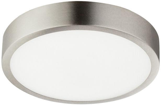 Globo VITOS 12366-15 plafon lampa sufitowa nikiel mat ściemniacz LED 15W 4000K 14,5cm IP44