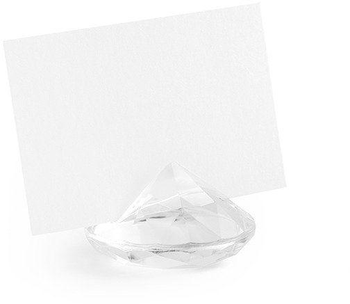 Stojaczki na winietki diament 4cm bezbarwne 10 szt SDW40-099