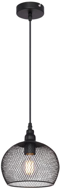 Globo ANYA 15047H3 lampa wisząca czarny mat 1xE27 60W 19cm