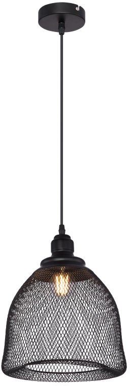 Globo ANYA 15047H4 lampa wisząca czarna 1xE27 60W 25cm