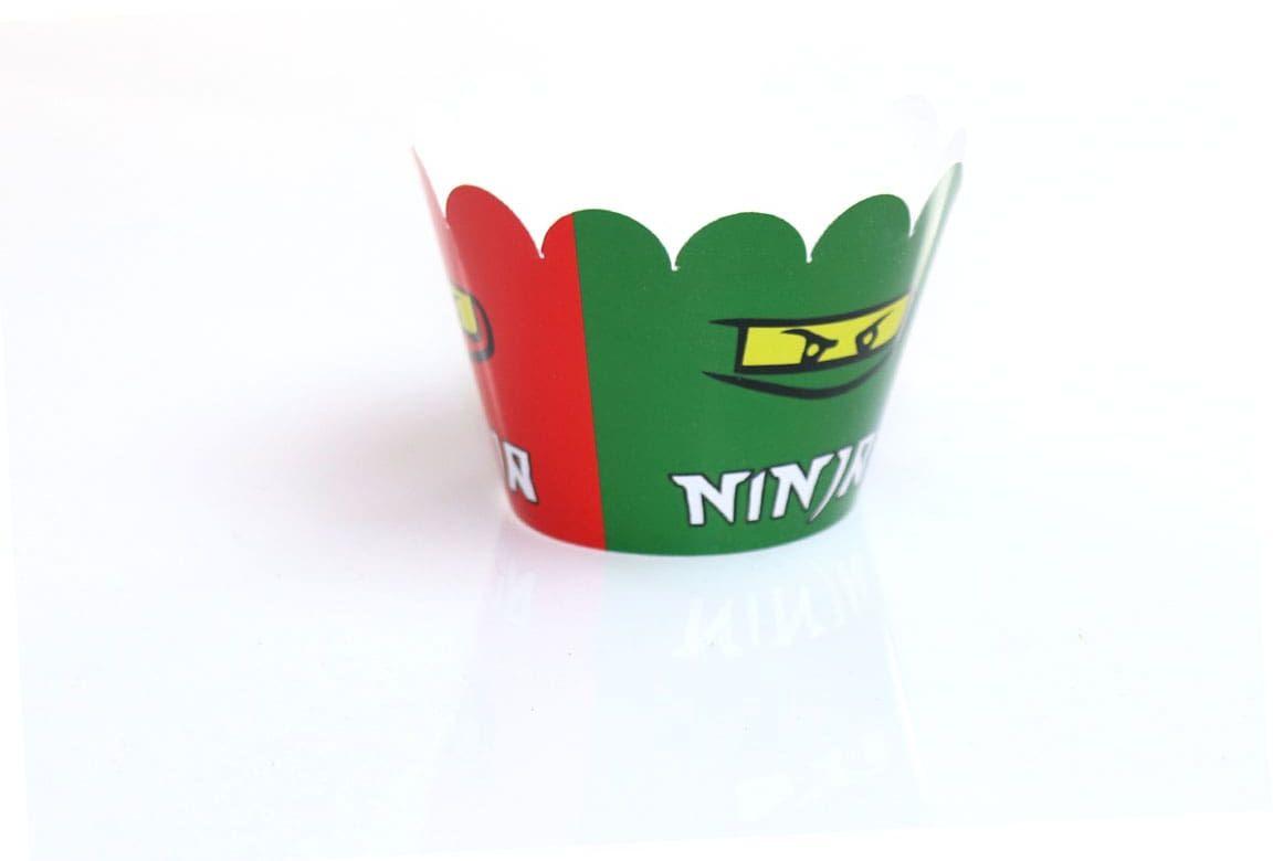 Papilotki na babeczki Ninja - 6 szt.