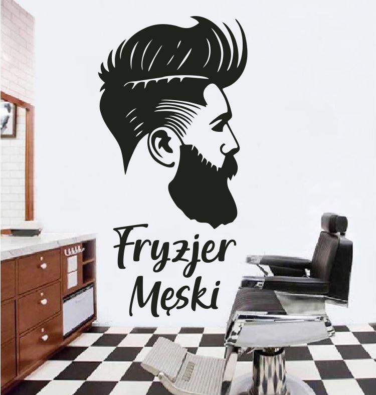 Naklejka fryzjer męski