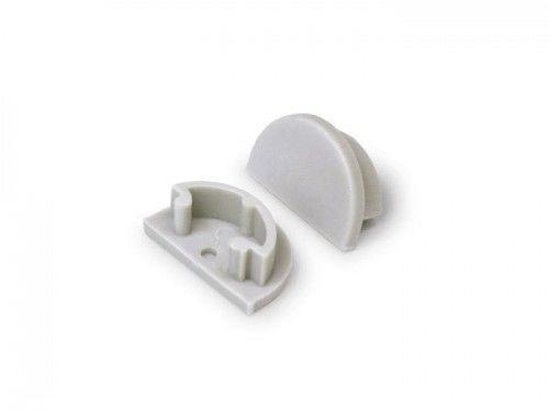 Zaślepka szara kpl. 2 sztuki do profilu LED elastycznego ARC