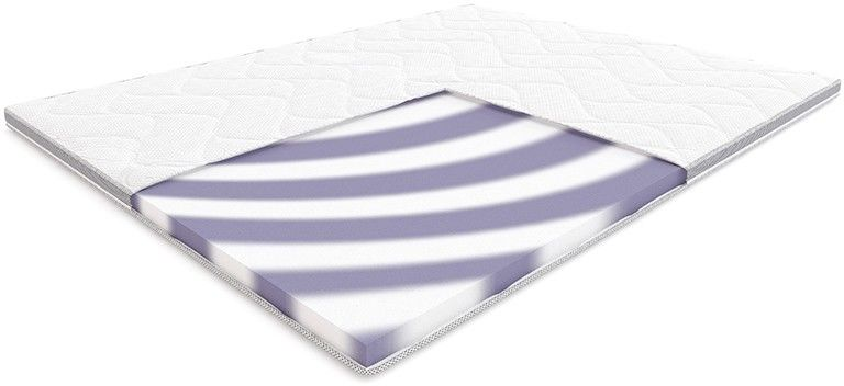 Materac BASS HILDING nawierzchniowy : Rozmiar - 120x200, Pokrowce Hilding - Tencel New